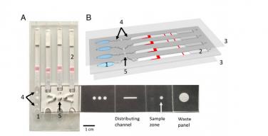 Strip of paper-like object helped diagnose malaria in Uganda