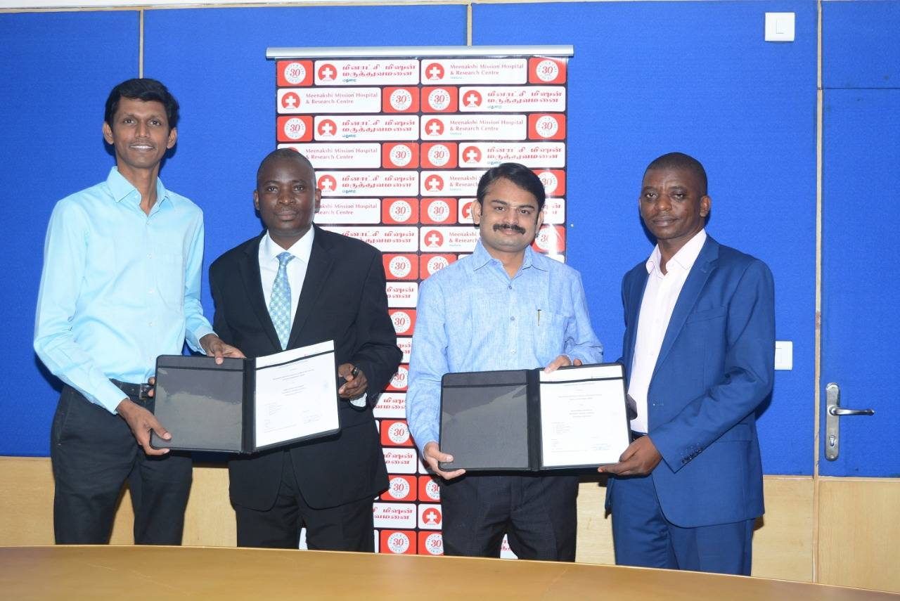 Meenakshi Mission Hospital & Research Centre signs MoU with Hope Africa University